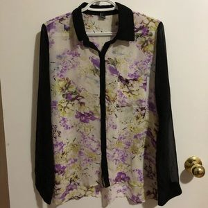 3/$10 Ladies Forever 21 Floral Blouse